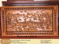 Tranh gỗ đục tích vinh quy bái tổ